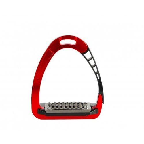 Acavallo Arena Safety Stirrups Red - 1 left