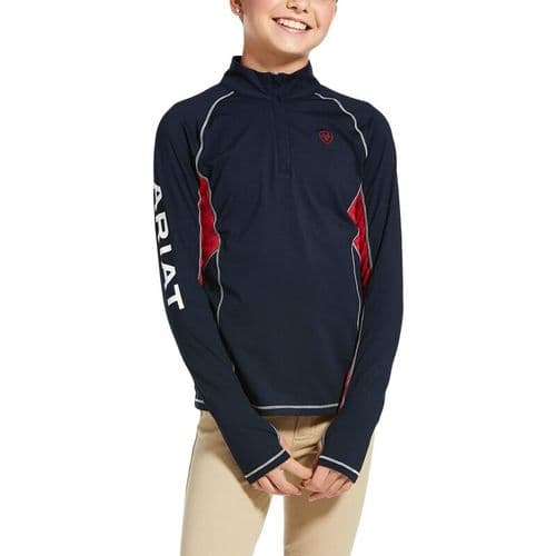 Ariat youth  Lowell 2.0 1/4 Zip Baselayer in Team