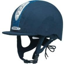 Champion Junior X-Air Dazzle Plus Riding Hat - Navy