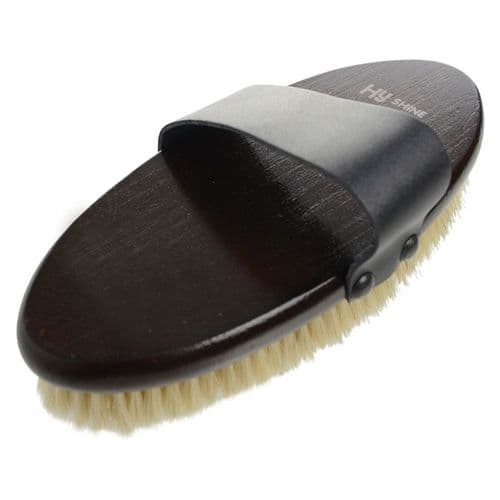 Hy Hyshine Deluxe Body Brush With Goat Hair and Massage Pad