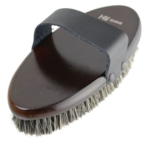 HySHINE Deluxe Body Brush With Horse Hair Mix