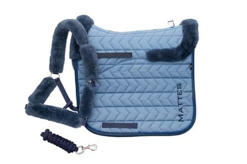 Mattes Dressage saddle pad in Blue - Seasonal Collection