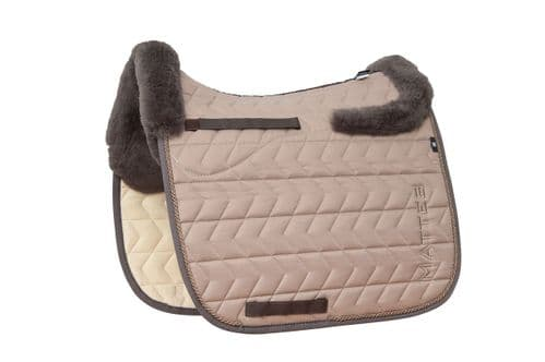 Mattes Dressage saddle pad in Stucco - Seasonal Collection