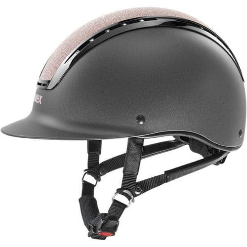 Uvex Suxxeed Starshine Riding Hat - Anthracite and Rose Gold
