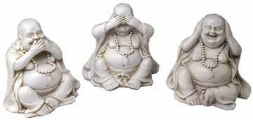 7cm Three Wise Happy Buddha