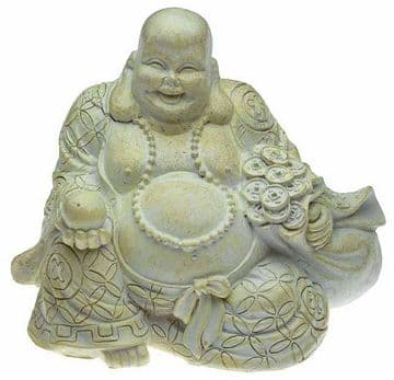 8cm Happy Buddha holding Fortune Ball and Coins