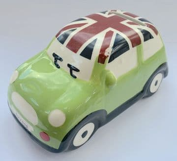 Ceramic Children Kid Money Box Saving Pot Piggy Bank Fund - MINI CAR GREEN