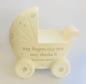 Christening Saving Money Box  Piggy Bank Gift - PRAM