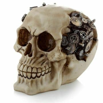 Gothic STEAMPUNK with COGS & GEARS Skull Head Skeleton Horror Halloween SK326