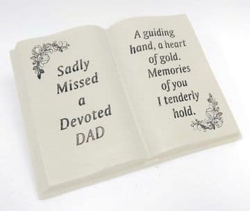 Memorial BOOK with Tribute Verse - Sadly Missed DEVOTED DAD