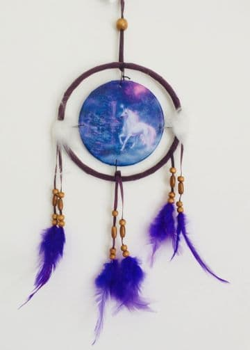 Printed DREAM CATCHER Small Diameter 9cm - Unicorn Brooke