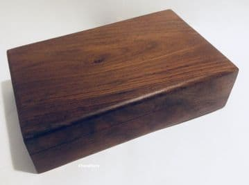 "RUSTIC  8x5"" PLAIN Jewellery Trinket Memory Keepsake Box"