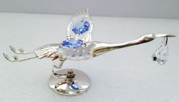 Silver Plated BIRD STOCK BLUE Crystal Temptations Sun Light Catcher