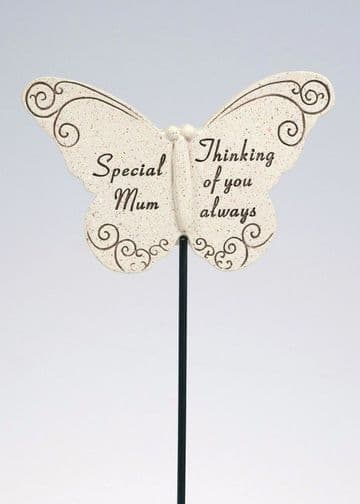 Special MUM Butterfly Sentimental Memorial Grave Stick DF13264E