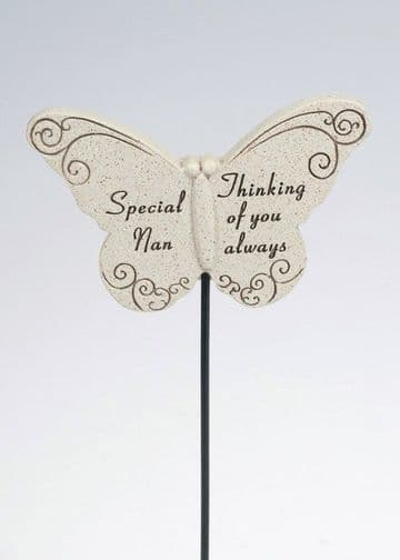 Special NAN Butterfly Sentimental Memorial Grave Stick DF13264C