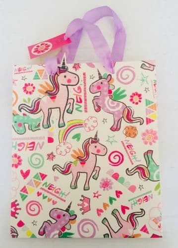 Unicorn NEIGH Medium Size Party GIFT BAG