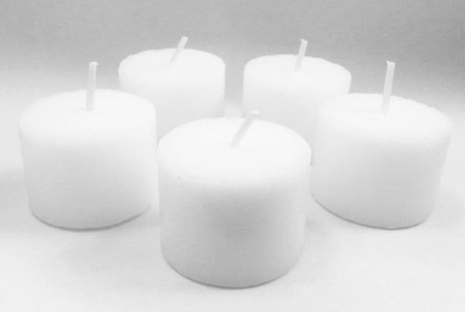 WHITE Candles VOTIVES SAMPLERS Table Decor