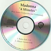 4 MINUTES - USA IN-HOUSE REFERENCE PROMO CD