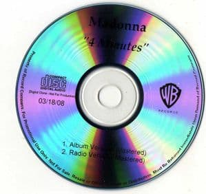 4 MINUTES - USA MASTERED IN-HOUSE PROMO CD