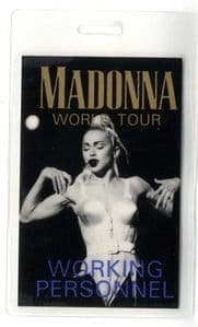 BLOND AMBITION TOUR - WORKING PERSONNEL LAMINATE PASS