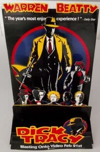 DICK TRACY - UK PROMO 3-D COUNTER DISPLAY