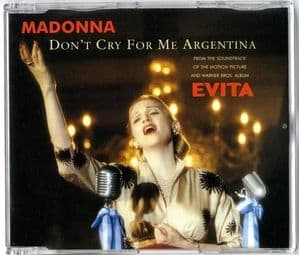 DON'T CRY FOR ME ARGENTINA - EUROPE CD SINGLE