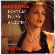 DON'T CRY FOR ME ARGENTINA - FRANCE CARD SLEEVE CD SINGLE
