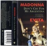 DON'T CRY FOR ME ARGENTINA - UK CLEAR CASSETTE (W0384C)