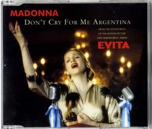 DON'T CRY FOR ME ARGENTINA - UK PROMO CD (W0384CDDJ)