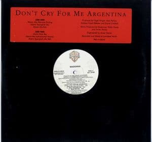 DON'T CRY FOR ME ARGENTINA  - USA 6 TRACK PROMO 12