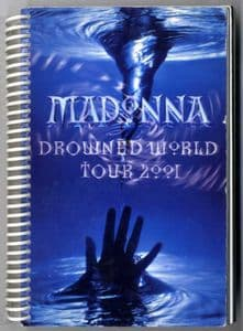 DROWNED WORLD TOUR - RARE 2001 CREW ONLY ITINERARY BOOK