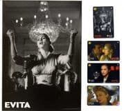 EVITA - OFFICIAL UK PHONECARD SET & FOLDER (SERIES 1)