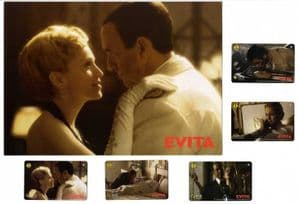 EVITA - OFFICIAL UK PHONECARD SET & FOLDER (SERIES 4)