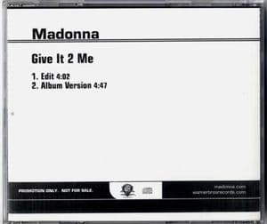 GIVE IT 2 ME - USA 2 TRACK PROMO CD
