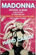 HARD CANDY - FRANCE PROMO 2ft DISPLAY BOARD