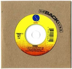 INTO THE GROOVE / DRESS YOU UP - USA BACKTRAX CD SINGLE