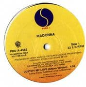"""JUSTIFY MY LOVE - USA PROMO ONLY 12"""" VINYL"""
