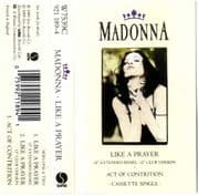 LIKE A PRAYER - UK CASSETTE (W7539C)