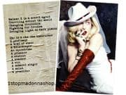 MADAME X  -  USA LAUNCH PARTY DOUBLE SIDED PROMO POSTER