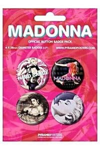 MADONNA ALBUM COVERS -  OFFICIAL BUTTON BADGE PACK