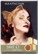 MAX FACTOR GOLD DUST - UK PROMO COUNTER DISPLAY