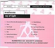 RAY OF LIGHT - UK / GERMANY PROMO CD ALBUM