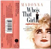 WHO'S THAT GIRL - UK / EU CASSETTE ALBUM (1)