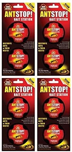4x Home Defence Ant Stop Bait Station