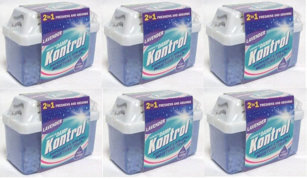 6 x Kontrol Mini Moisture Trap - Freshens Air and Absorbs Damp lavender Scent 4.3 out of 5 stars 226
