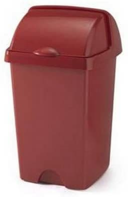 Addis 621300 Red 25Lt Plastic Roll Top Waste Rubbish Bin