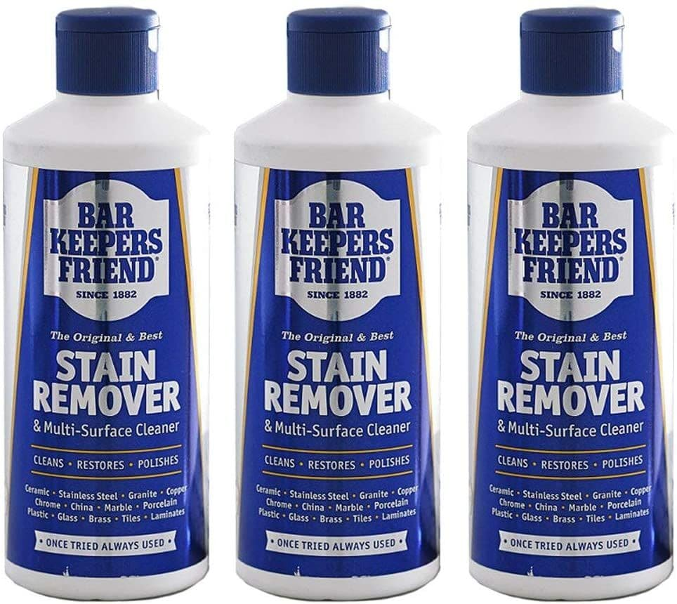 Bar Keepers Friend Universal Multi Surface Cleaner Stain Remover Powder (Pack of 3, 250g)