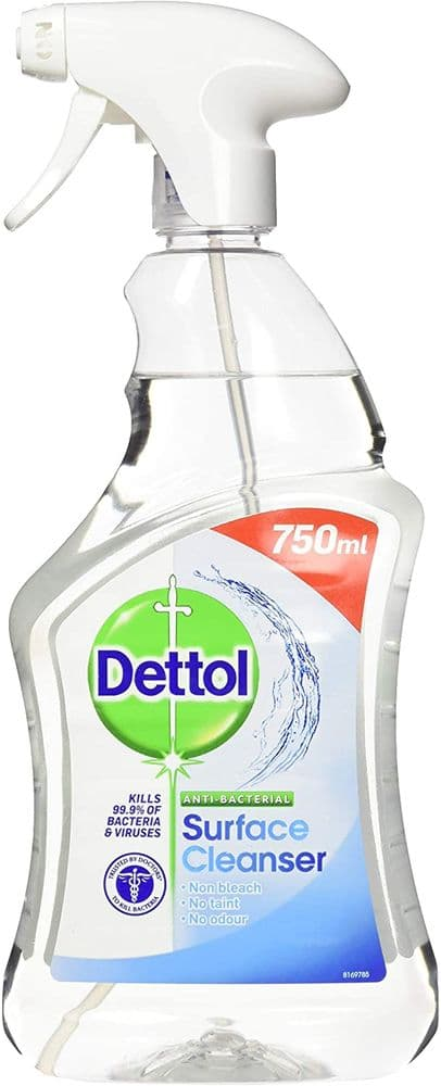 Dettol Antibacterial Bulk Surface Cleaning Spray, 750 ml, Pack of 6 (Packaging May Vary)