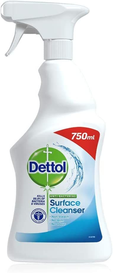 Dettol Antibacterial Surface Cleanser Spray 750 ml (Packaging May Vary)