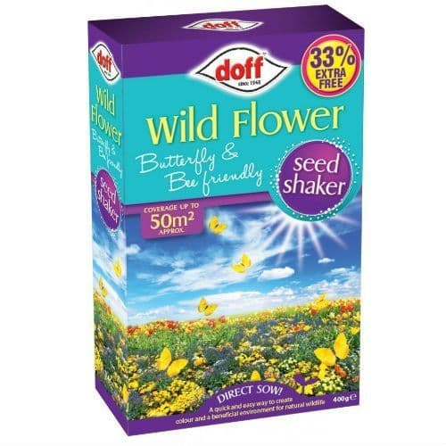 Doff Wild Flower Bee and Butterfly Mixture Seed 400g box